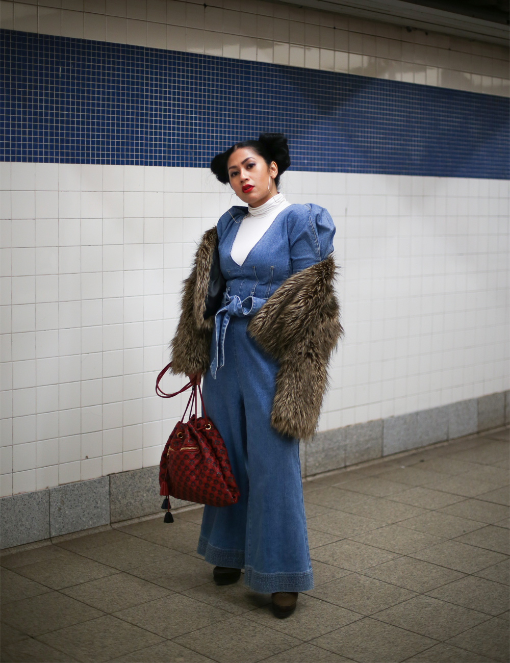 C/MEO Collective Denim Jumpsuit