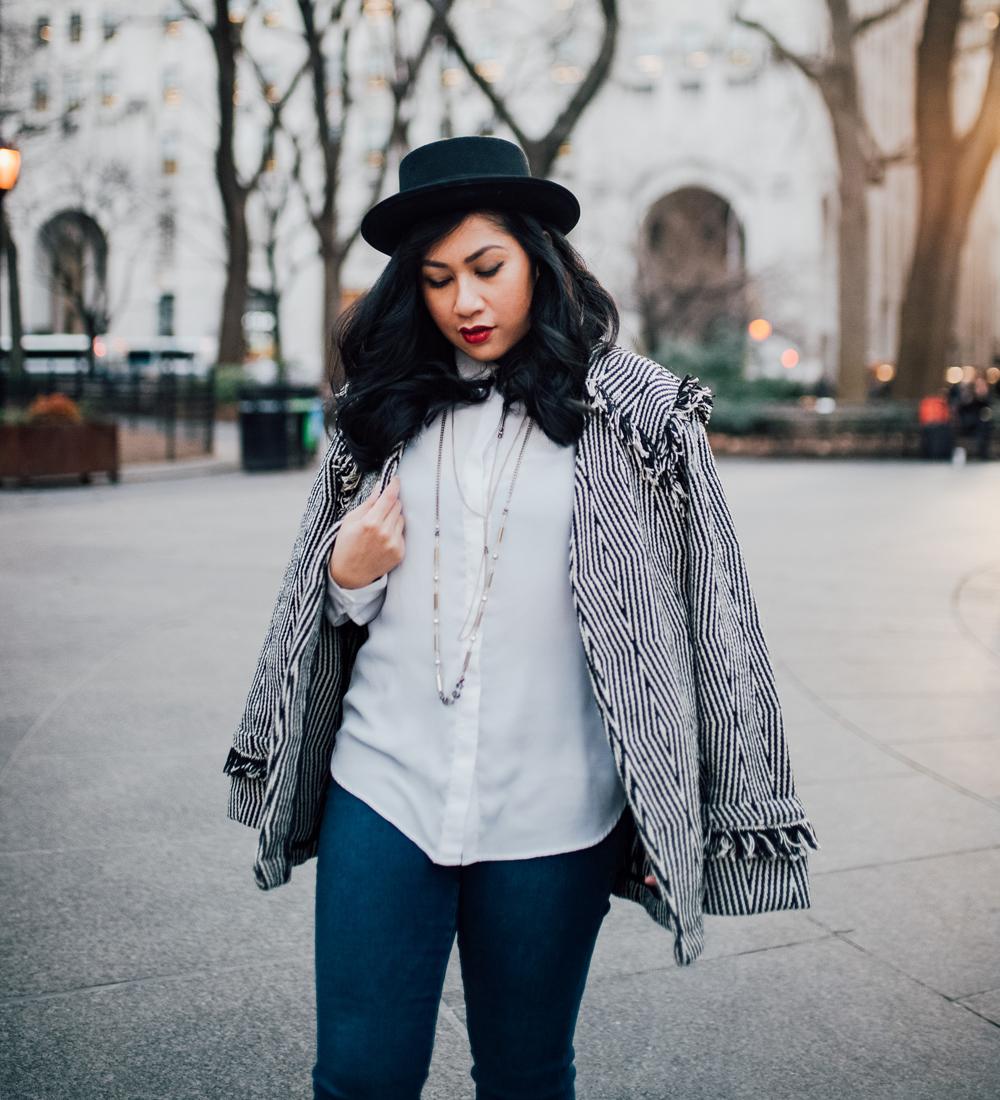 H&M jacket with fringe