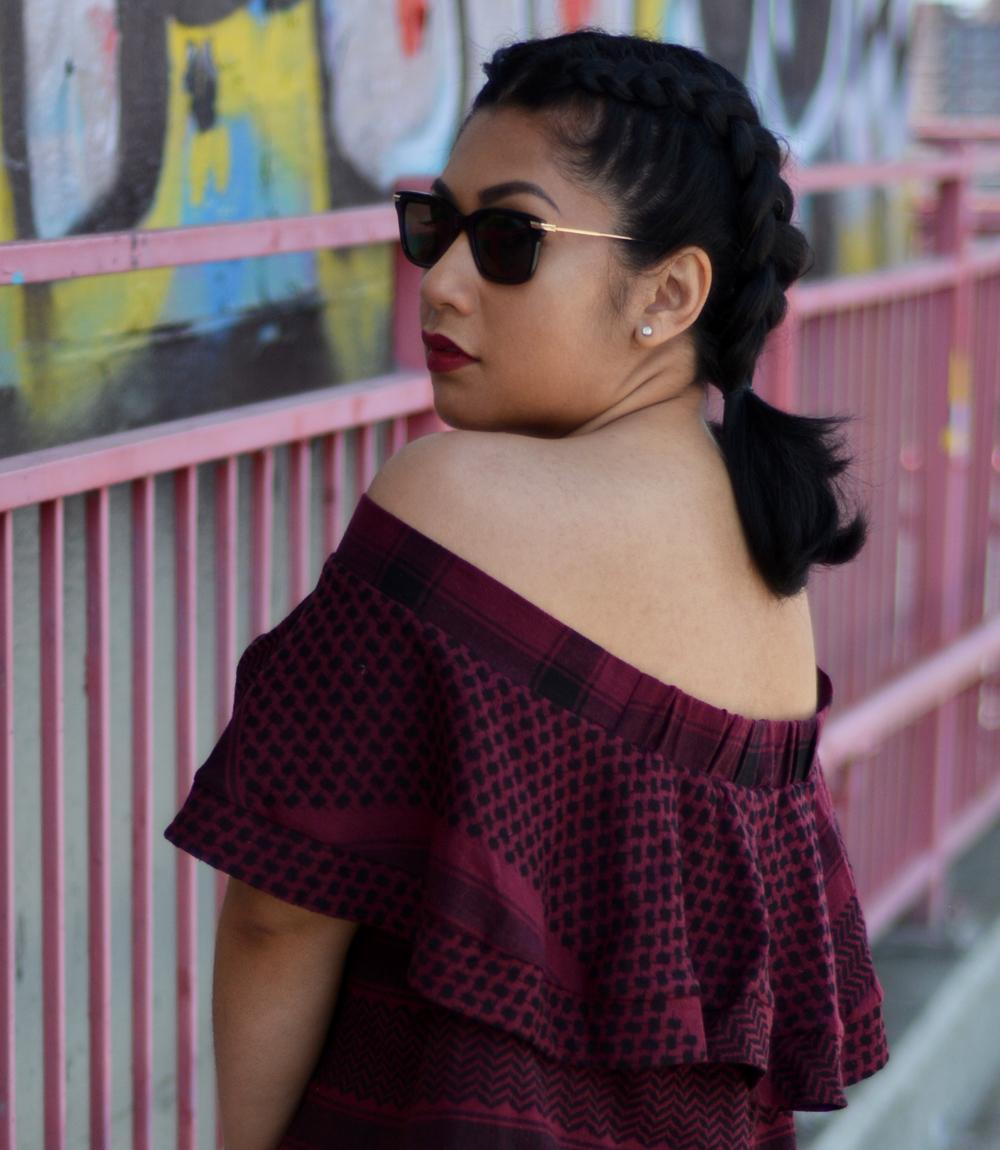 Cecilie Copenhagen scarf-jacquard cotton top and shorts