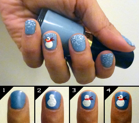 Nail Design Tutorial Frosty The Snowman Mimi Chichi Blog