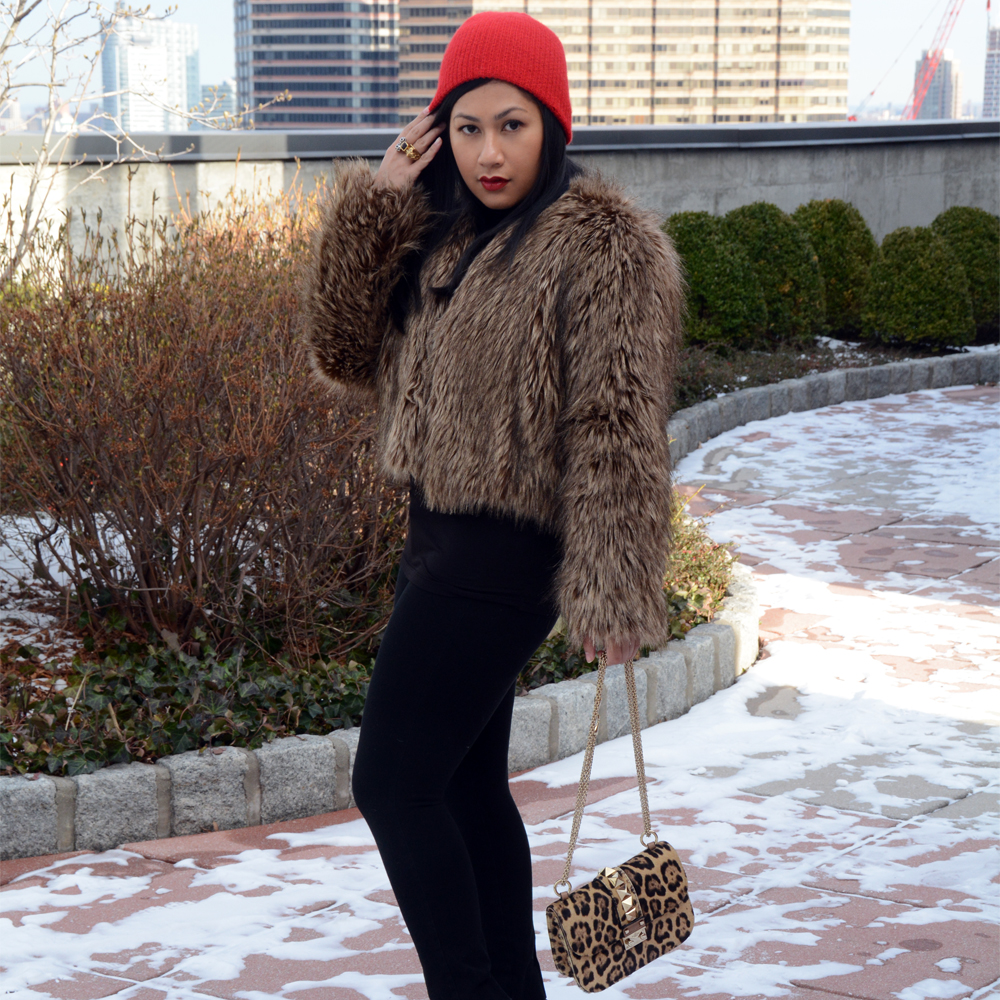 BSable Lauren Faux Fur Coat