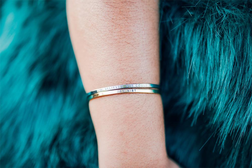 Charming Charlie Feminist Bracelet