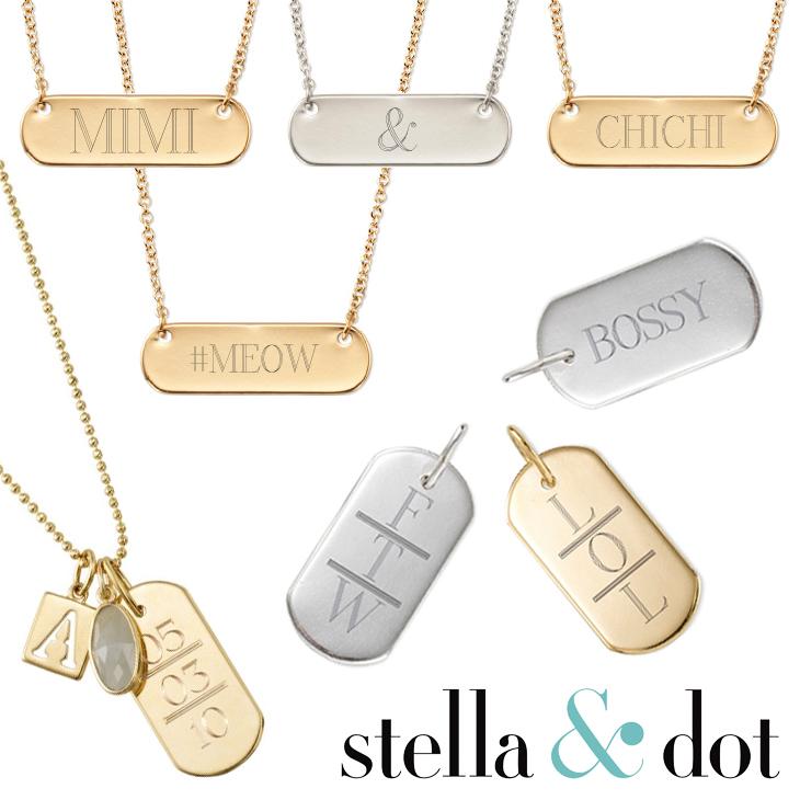 Win Stella & Dot Monogrammed Necklace