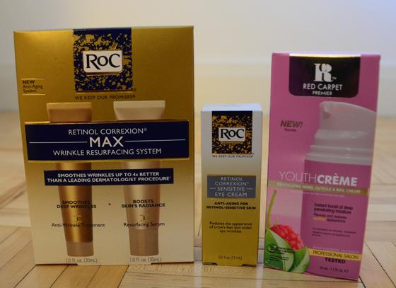 Retinol Correcxion Max, Eye Cream, and Red Carpet Youth Creme