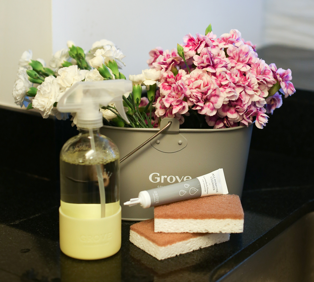Cleaning with Grove Collaborative products