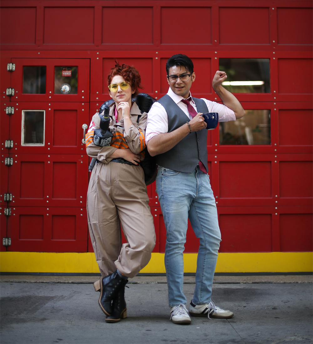 Fabulous Pop-Culture Halloween Costume Ideas, featuring Hotlzman and Kevin of Ghostbusters