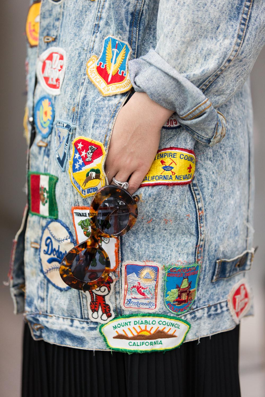 Dusty Rose Vintage Denim Jacket
