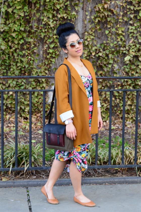 Yumi Kim dress & Zara blazer