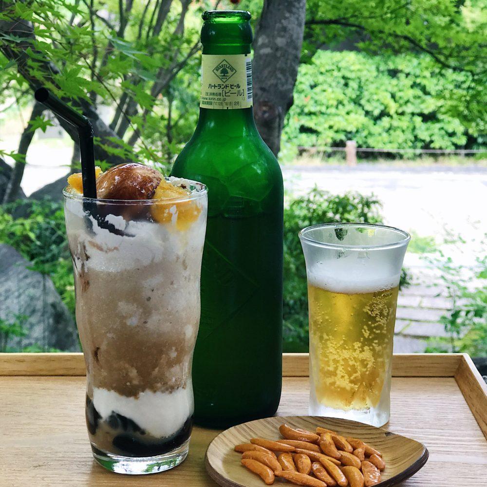 Snacks at Sagano Kaede Cafe