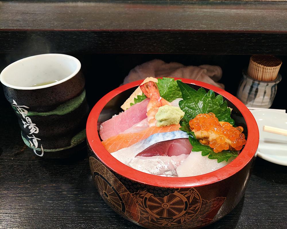 Chirashi bowl from Iciba Sushi
