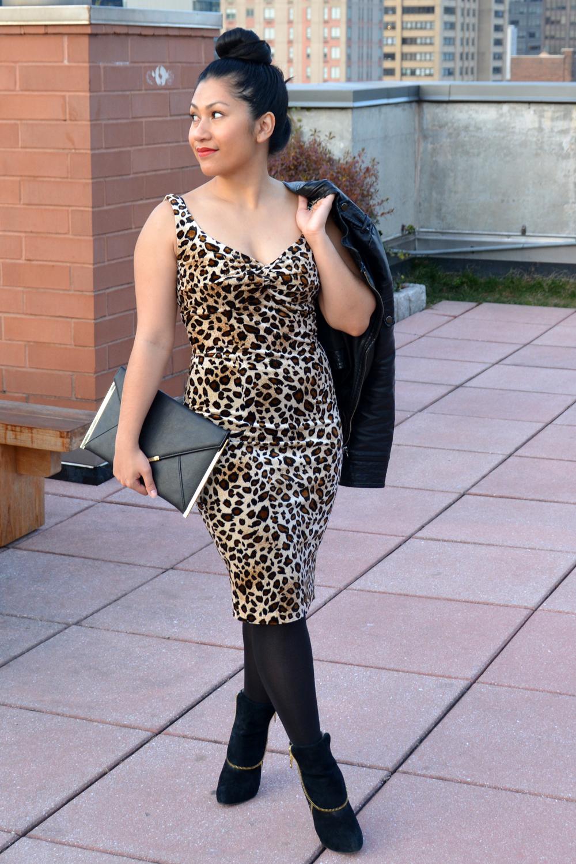 Voodoo Vixen vivienne leopard pencil dress