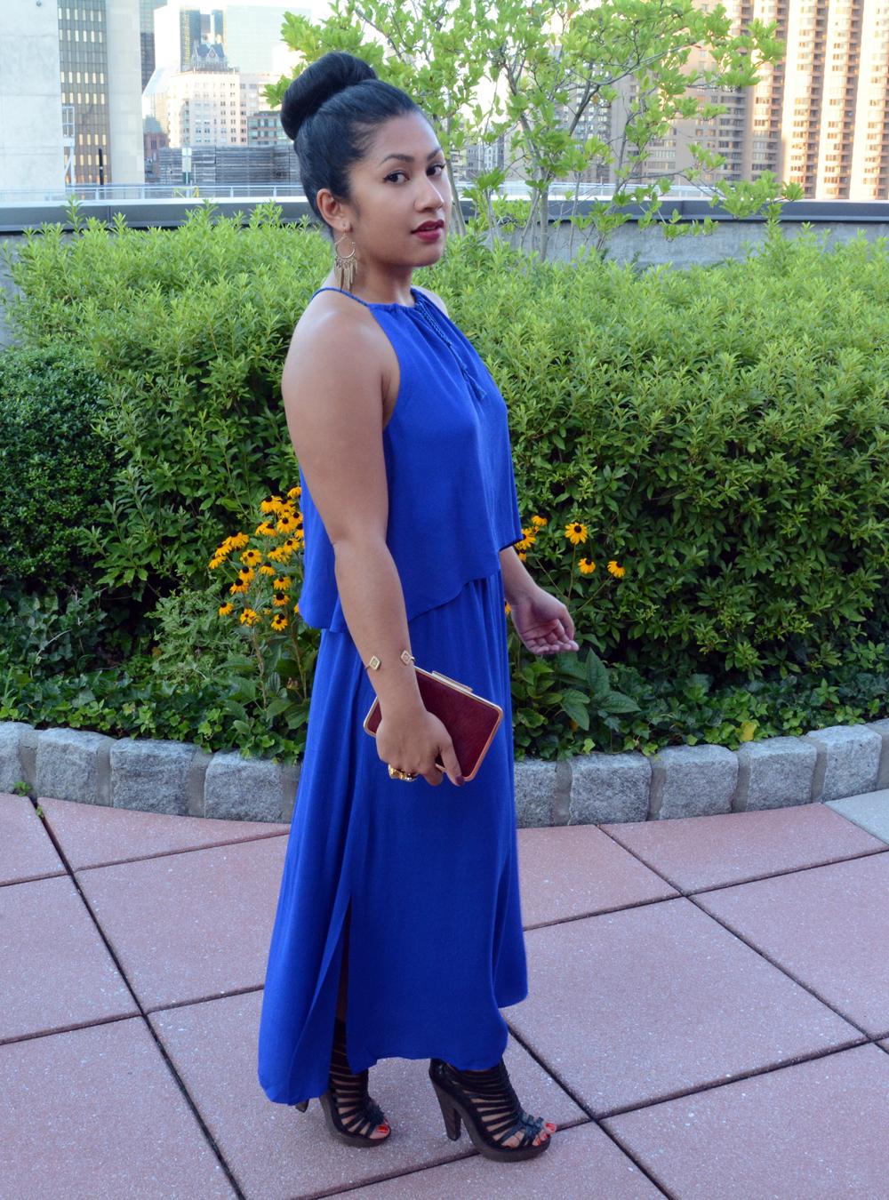 Madewell flutter-back overlay maxi dress