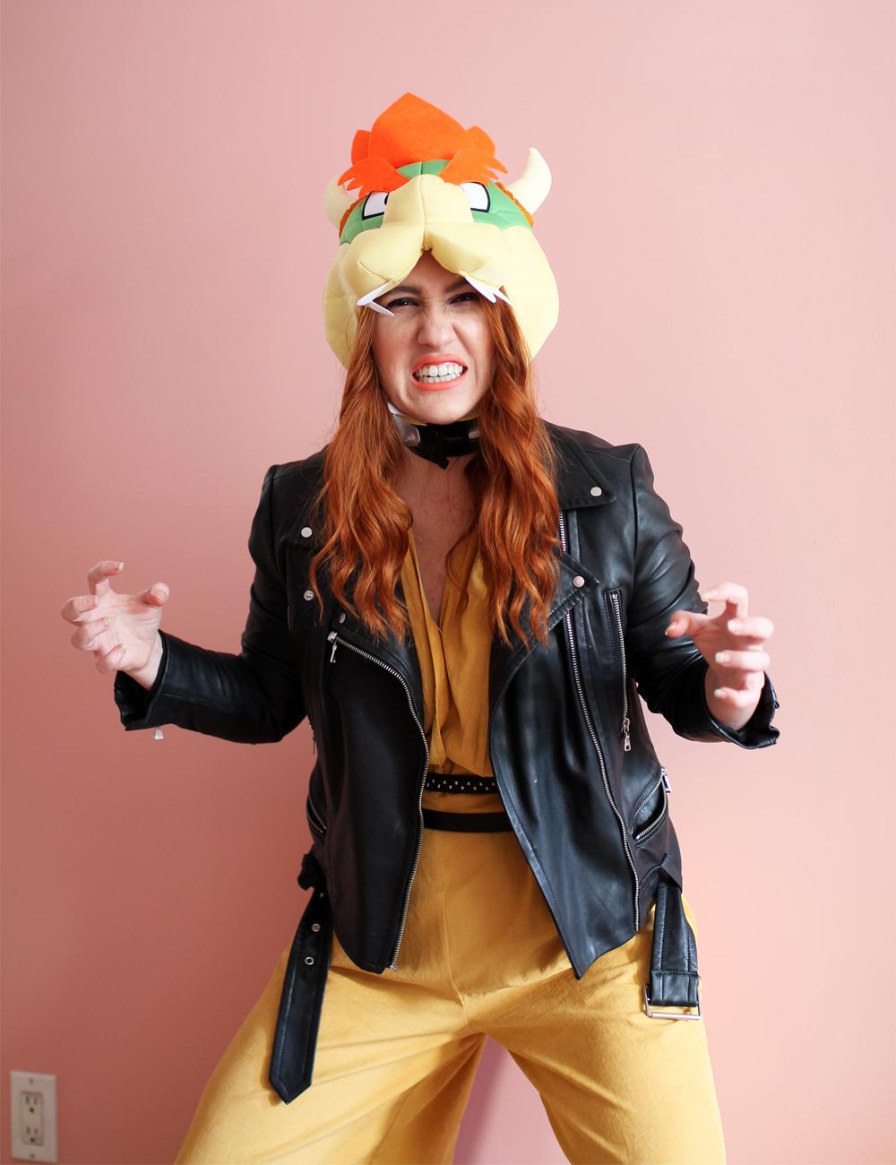Bowser Halloween costume idea for MarioKart fans