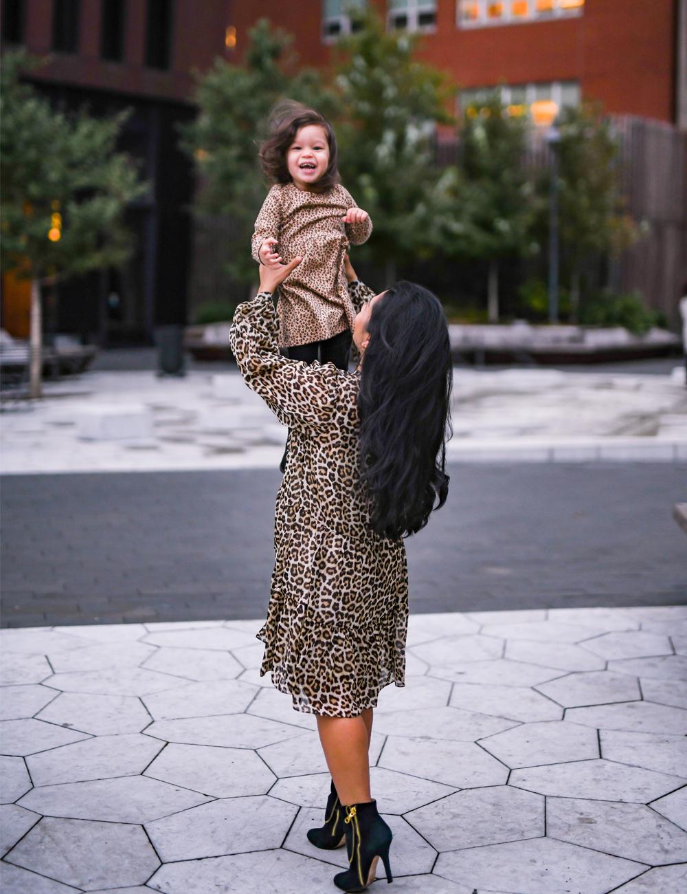 Maxine is looking super cute in her H&M leopard print dress