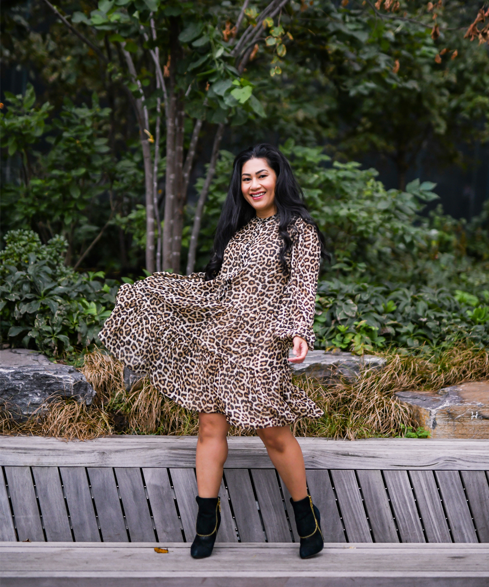 This leopard print dress from H&M is so airy and great for twirling photos