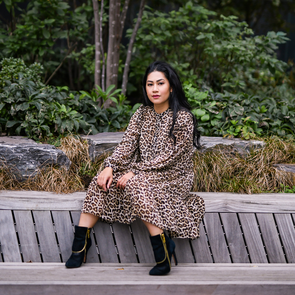 This leopard print dress from H&M is unbelievably comfortable