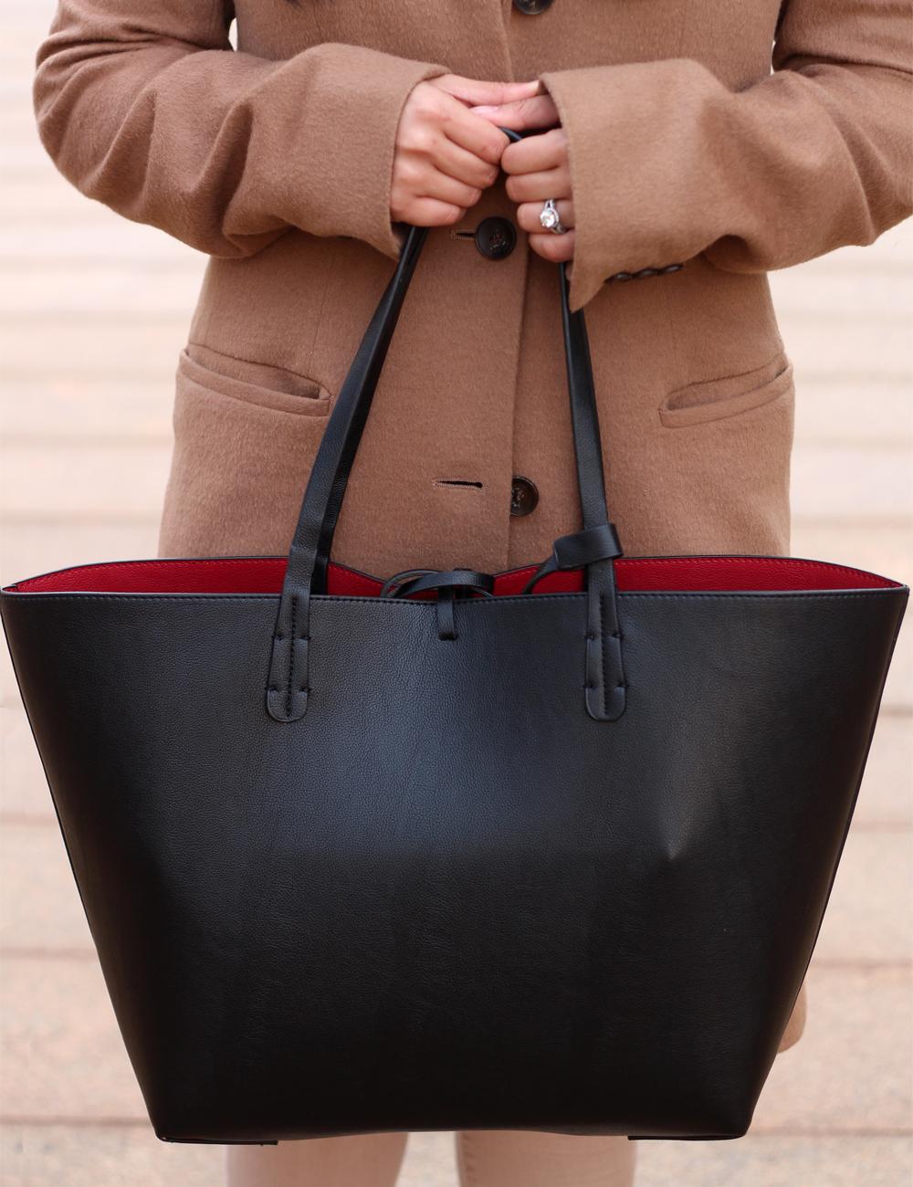 Zara Reversible contrast shopper