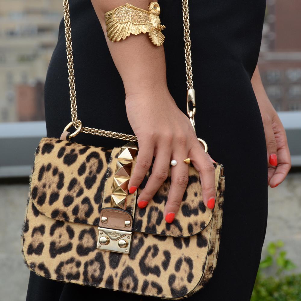 Valentino rock lock leopard print