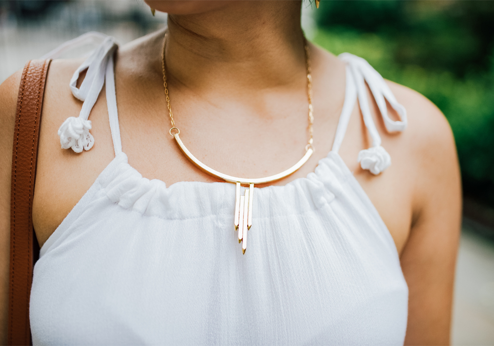 LM White Jewelry Icy Necklace