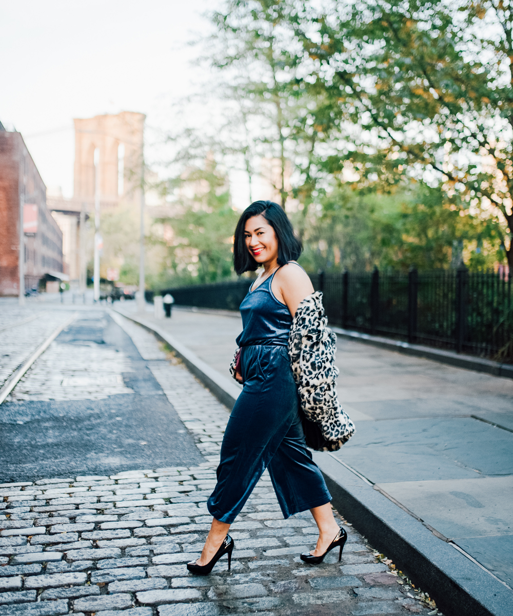 Old Navy Velvet Wide-Leg Jumpsuit