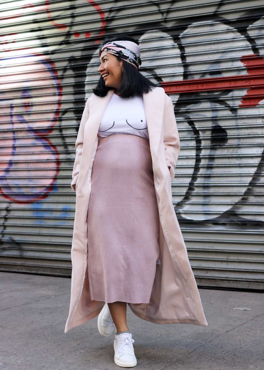 Oh Polly Don't Go Chasin' Waterfalls Longline Lapel Coat in Lilac