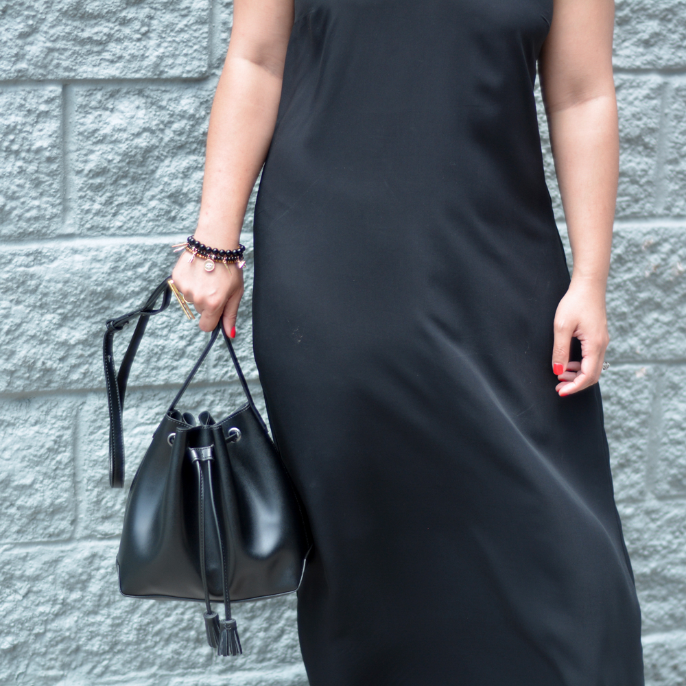Old Navy faux-leather drawstring bag