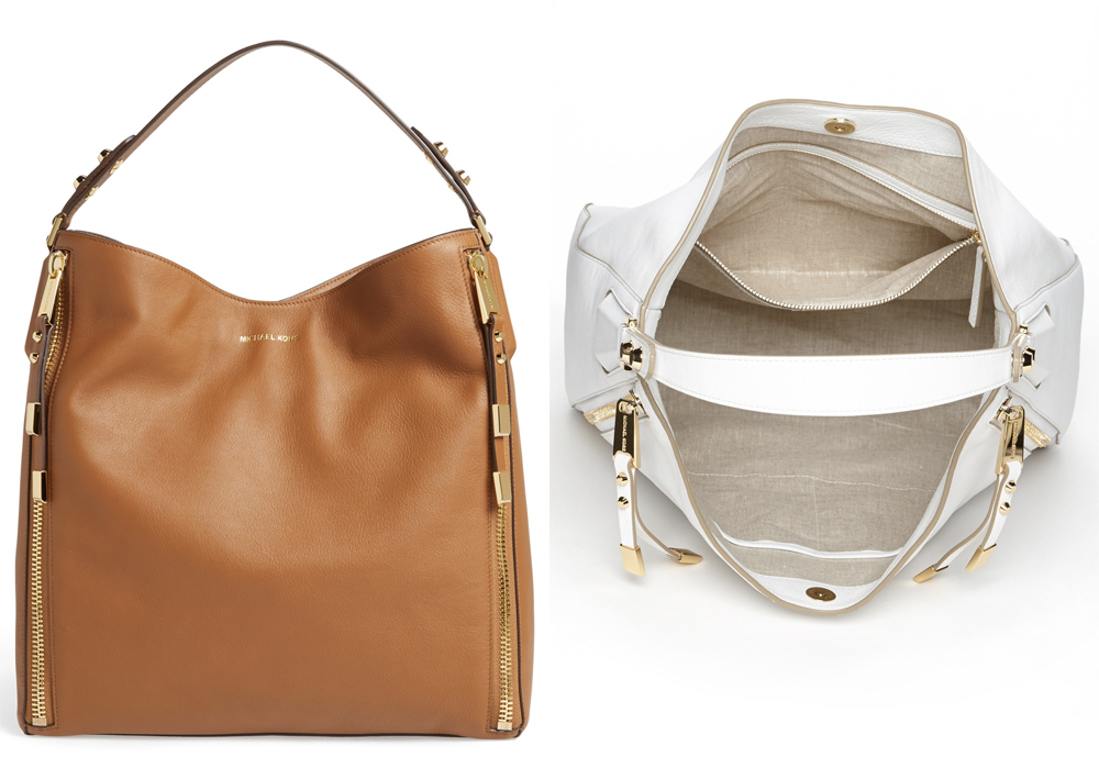 Michael Kors Miranda - Zips Leather Hobo