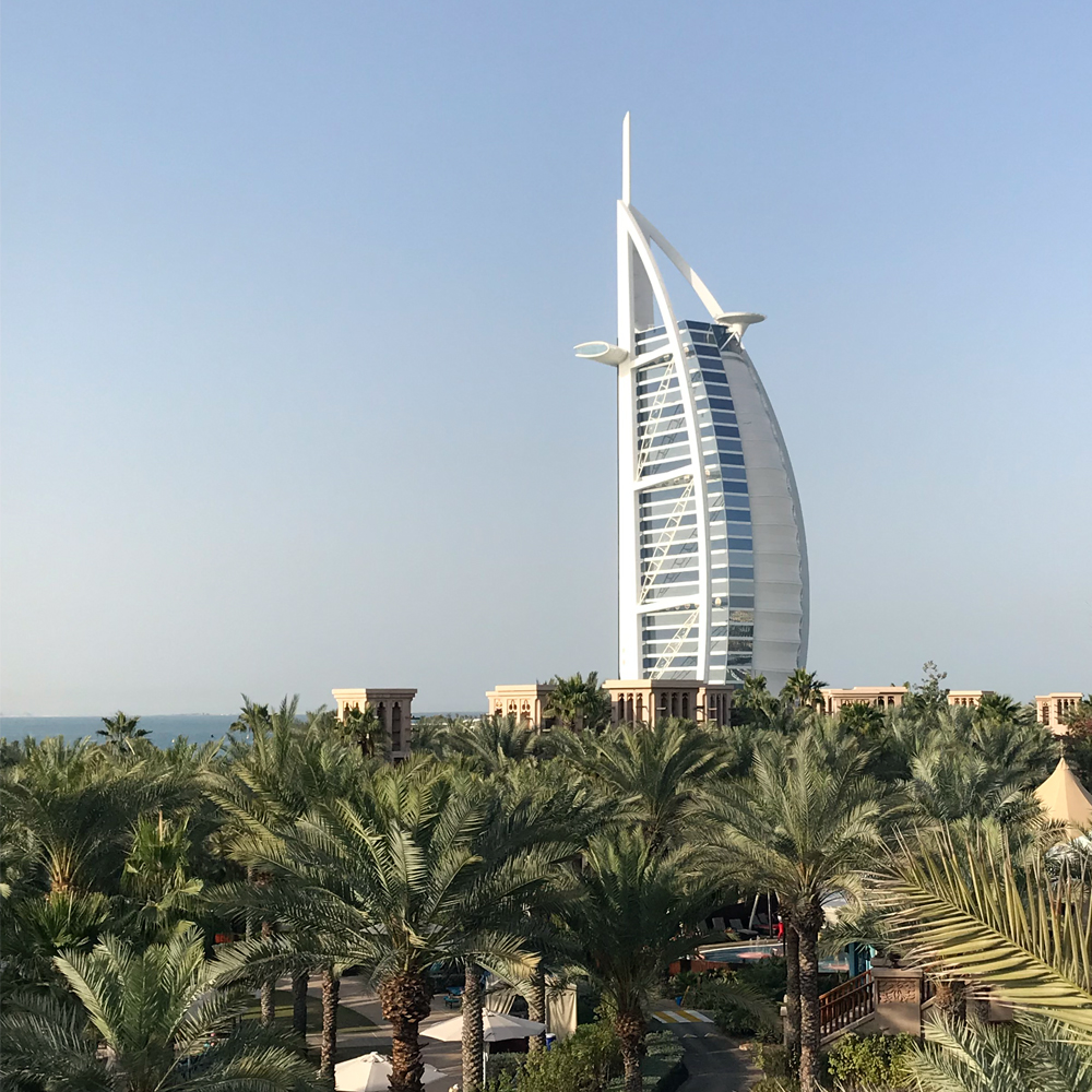 Views of Burj al-Arab from Madinat Jumaierah