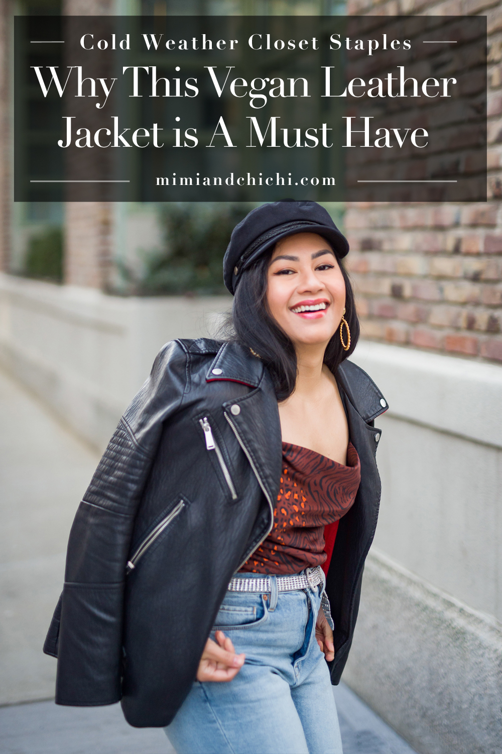 Why vegan leather moto jacket is a go-with-anything staple that you need in your closet